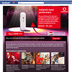 Bespoke development of Facebook App for Vodafone